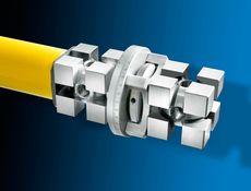 Aufnahmekopf mit Winkelteilung - Beliebiger Verdrehwinkel. Der Aufnahmekopf wird mit Spanneinsatz geliefert.